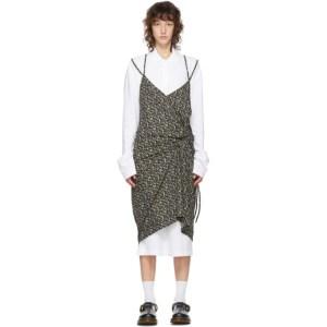 Pushbutton SSENSE Exclusive White and Black Polo Shirt Dress