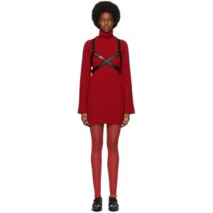 Junya Watanabe Red Harness Turtleneck Dress