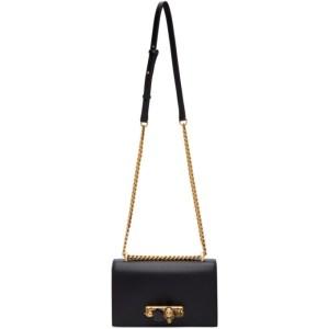 Alexander McQueen Black Large Jewelled Satchel Bag