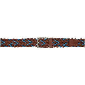 Paul Smith Brown and Blue Braided Cord Belt