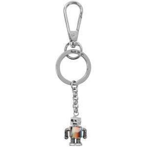 Paul Smith Silver Robot Keychain