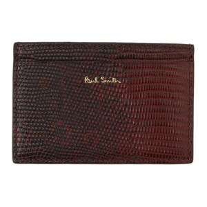 Paul Smith Burgundy Lizard Card Holder