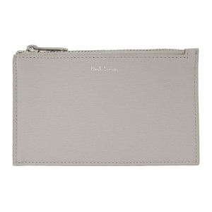 Paul Smith Grey Straw Pouch Card Holder