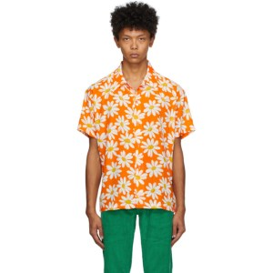 ERL Orange Daisy Short Sleeve Shirt