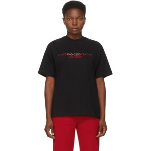 Opening Ceremony Black Embroidered Text Logo T-Shirt