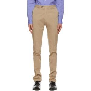 Ralph Lauren Purple Label Beige Eaton Chino Trousers