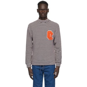 Opening Ceremony White and Purple Striped Turtleneck