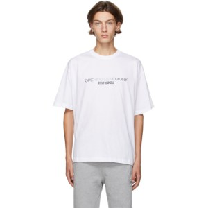 Opening Ceremony White Embroidered Logo T-Shirt