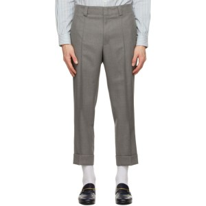 Z Zegna Grey Wool Pleated Trousers