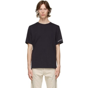 Golden Goose Navy and White Adamo Sneakers Lover T-Shirt