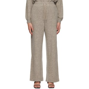 Max Mara Leisure Taupe Wool Acacia Lounge Pants