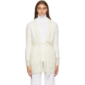 Max Mara Leisure Off-White Mohair Liuto Cardigan