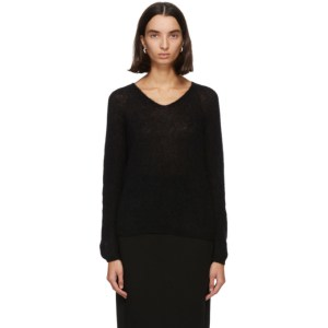 Max Mara Leisure Black Mohair Nord Sweater