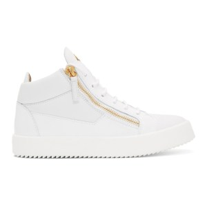 Giuseppe Zanotti White Kriss High-Top Sneakers