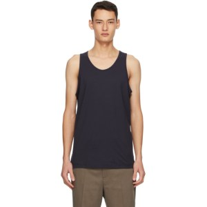 Comme des Garcons Shirt Navy Jersey Tank Top