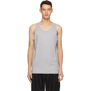 Comme des Garcons Shirt Grey Jersey Tank Top