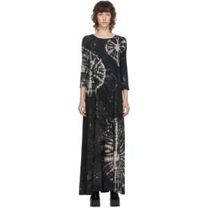Raquel Allegra Black Tie-Dye Long Dress