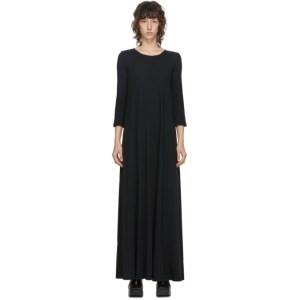 Raquel Allegra Black Drama Long Dress