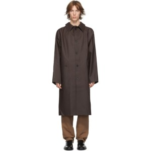 KASSL Editions Brown Rubber Original Long Coat