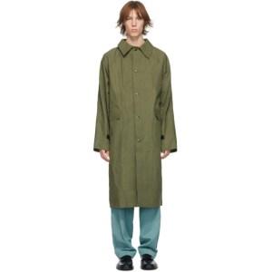 KASSL Editions Khaki Waxed Original Long Coat