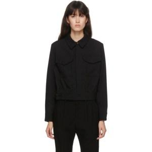 Regulation Yohji Yamamoto Black Gabardine Wool Military Jacket