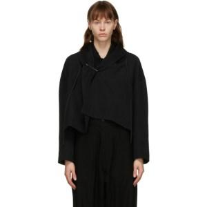 Regulation Yohji Yamamoto Black Wool R-Square Jacket