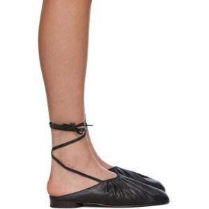 3.1 Phillip Lim Black Nadia Lace-Up Ballet Loafers