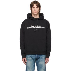 Vyner Articles Black and White Nietxche Cod Hoodie