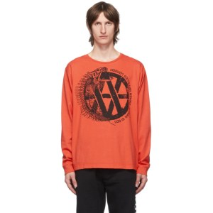 Vyner Articles Red and Black Fishbone Long Sleeve T-Shirt