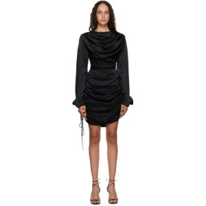 Materiel Tbilisi Black Draped Short Dress