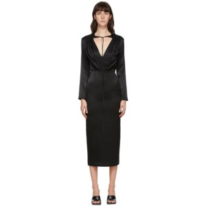 Materiel Tbilisi Black V-Neck Mid-Length Dress