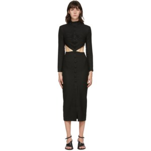 Materiel Tbilisi Black Side Cut-Out Dress