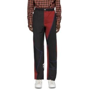 Ahluwalia Black and Red Femi Track Pants