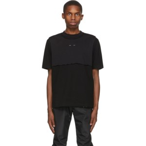 HELIOT EMIL Black Layered T-Shirt
