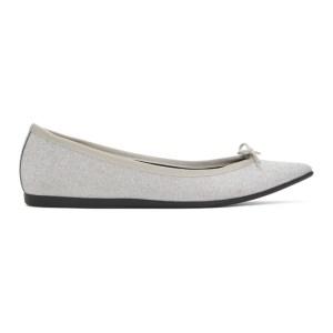 Repetto Silver Junon Ballerina Flats