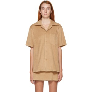Gil Rodriguez SSENSE Exclusive Beige Terry Bowling Shirt