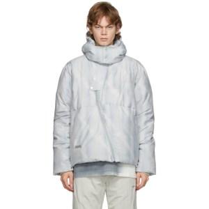C2H4 Grey Arc Sculpture Puffer Jacket