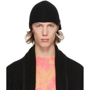 Stefan Cooke SSENSE Exclusive Black Wool Slashed Beanie