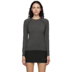 Sportmax Grey Wool Abete Sweater