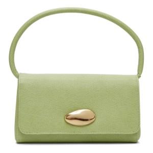 Little Liffner Green Lizard Mini Baguette Bag