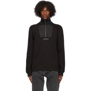 Axel Arigato Black Monogram Half-Zip Sweatshirt
