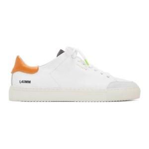 Axel Arigato White and Orange Clean 90 Triple Sneakers