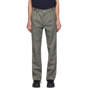 GR10K Green Wool Tailored Military Pants