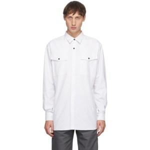 GR10K White Klopman Antistatic Dress Shirt