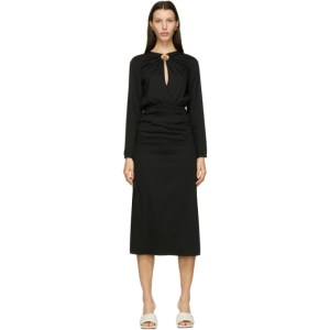 Christopher Esber Black Cummerbund Orbit Dress