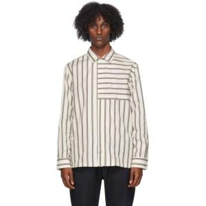 Barena White Bufalcana Tomio Striped Shirt