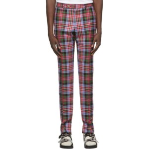 Vivienne Westwood Red Tartan George Cropped Trousers