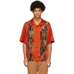 Vivienne Westwood Orange Flames Print Francis Shirt