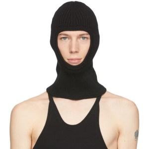 Judy Turner Black Knit Wool Oli Ski Mask