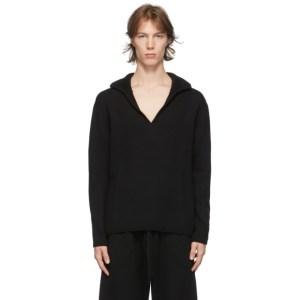 Judy Turner Black Wool David Long Sleeve Polo